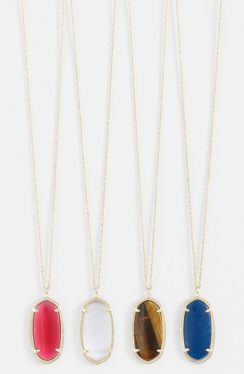 KENDRA SCOTT 'Elise' Pendant Necklace, Main, color, 931
