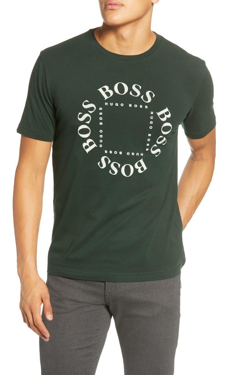 BOSS Logo T-Shirt, Main, color, GREEN