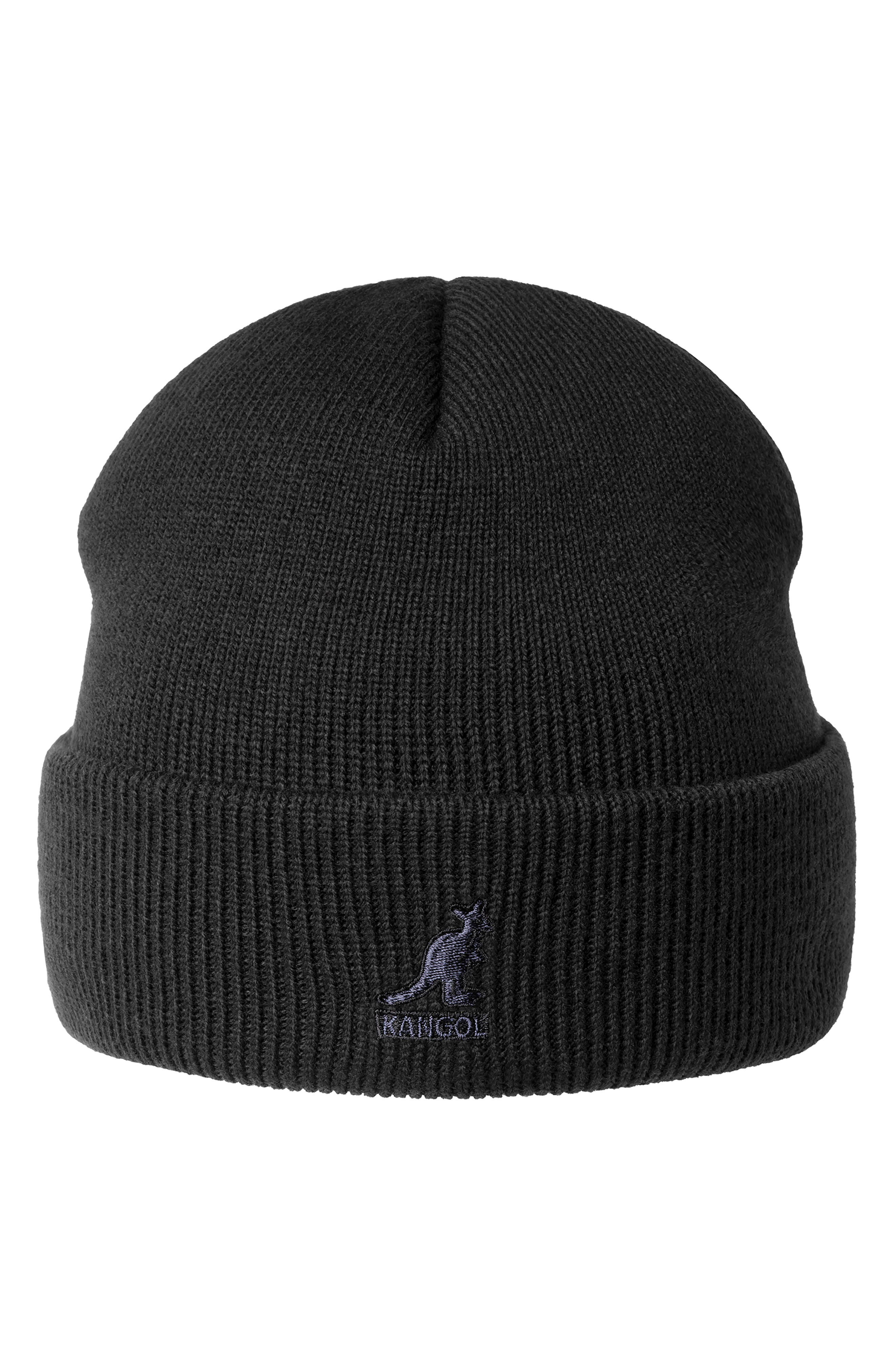 An embroidered logo brands the cuff of a soft, slouchy knit beanie. Style Name: Kangol Beanie. Style Number: 5738287. Available in stores.