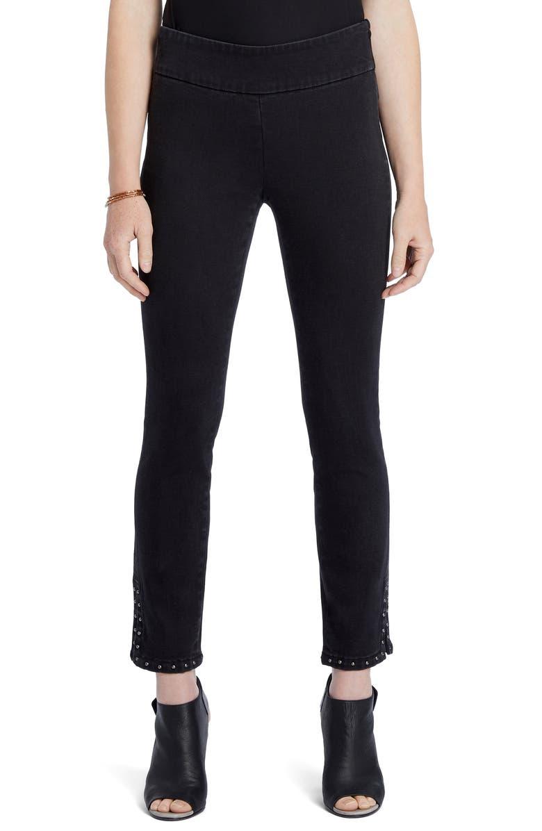 NIC+ZOE Stud Hem Skinny Jeans, Main, color, 009