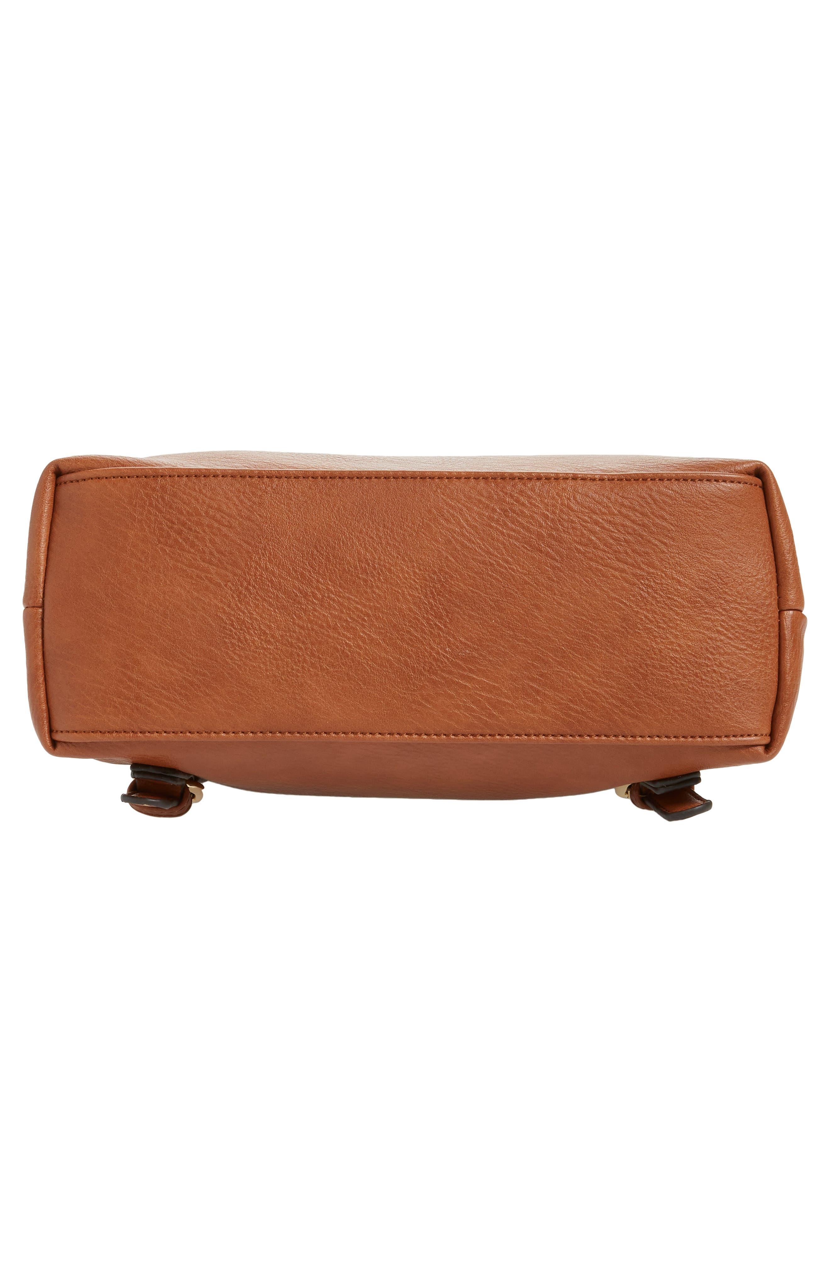 ,                             Rubie Faux Leather Backpack,                             Alternate thumbnail 7, color,                             COGNAC
