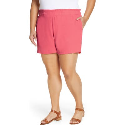 Plus Size Gibson X The Motherchic Harborside Shorts, Pink