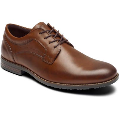 Rockport Dustyn Waterproof Plain Toe Derby- Brown