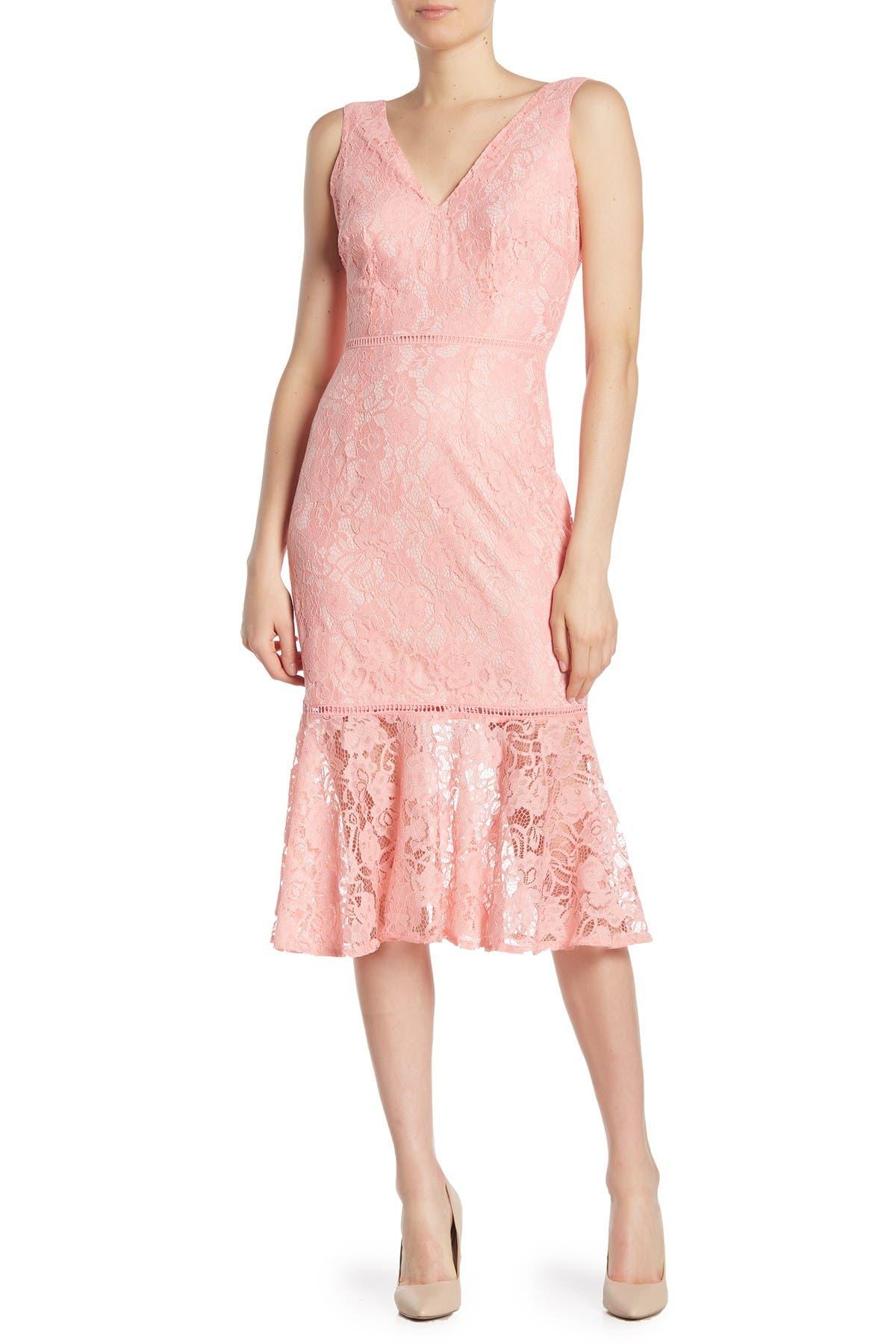Image of Alexia Admor Kourtney Lace Midi Dress