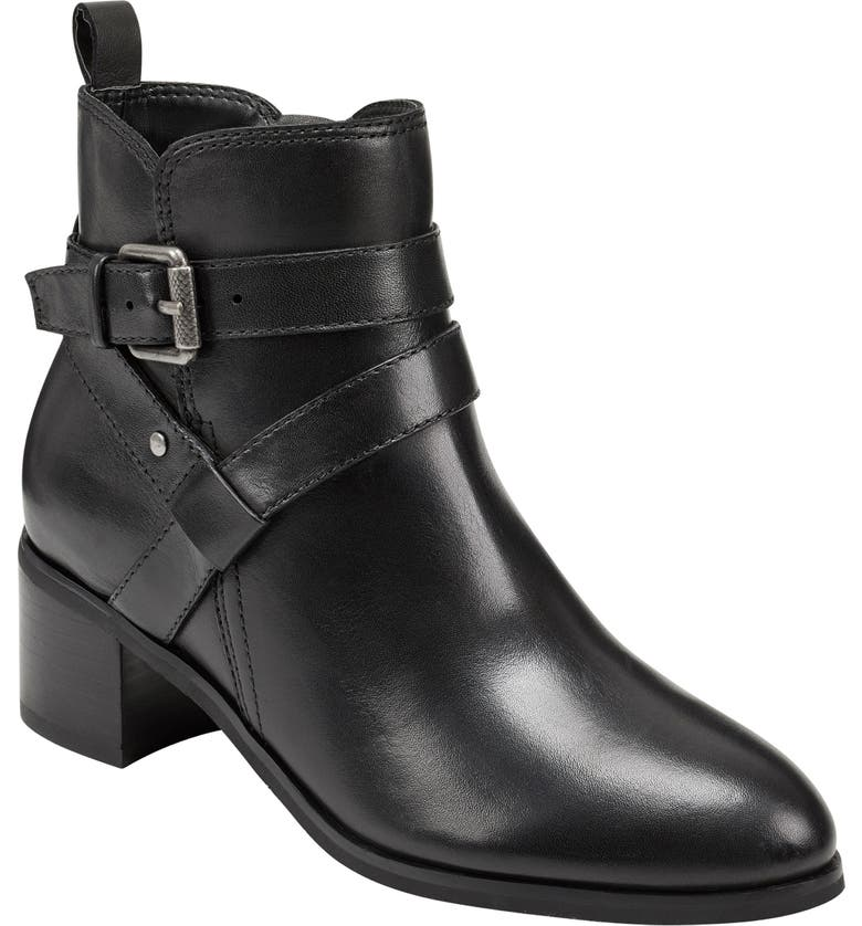 EVOLVE Shore Bootie, Main, color, BLACK LEATHER