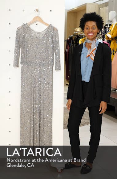 Embellished Blouson Evening Dress, sales video thumbnail