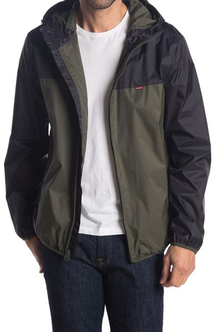 Levi's Men's Colorblock Hooded Rain Jacket (2 color options)