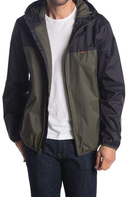 Levi's Men's Colorblock Hooded Rain Jacket