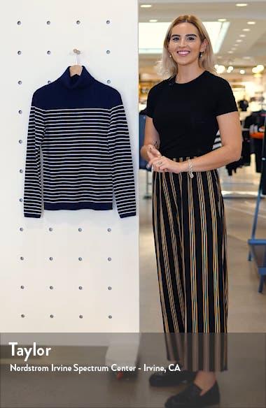 Stripe Wool & Cashmere Turtleneck Sweater, sales video thumbnail