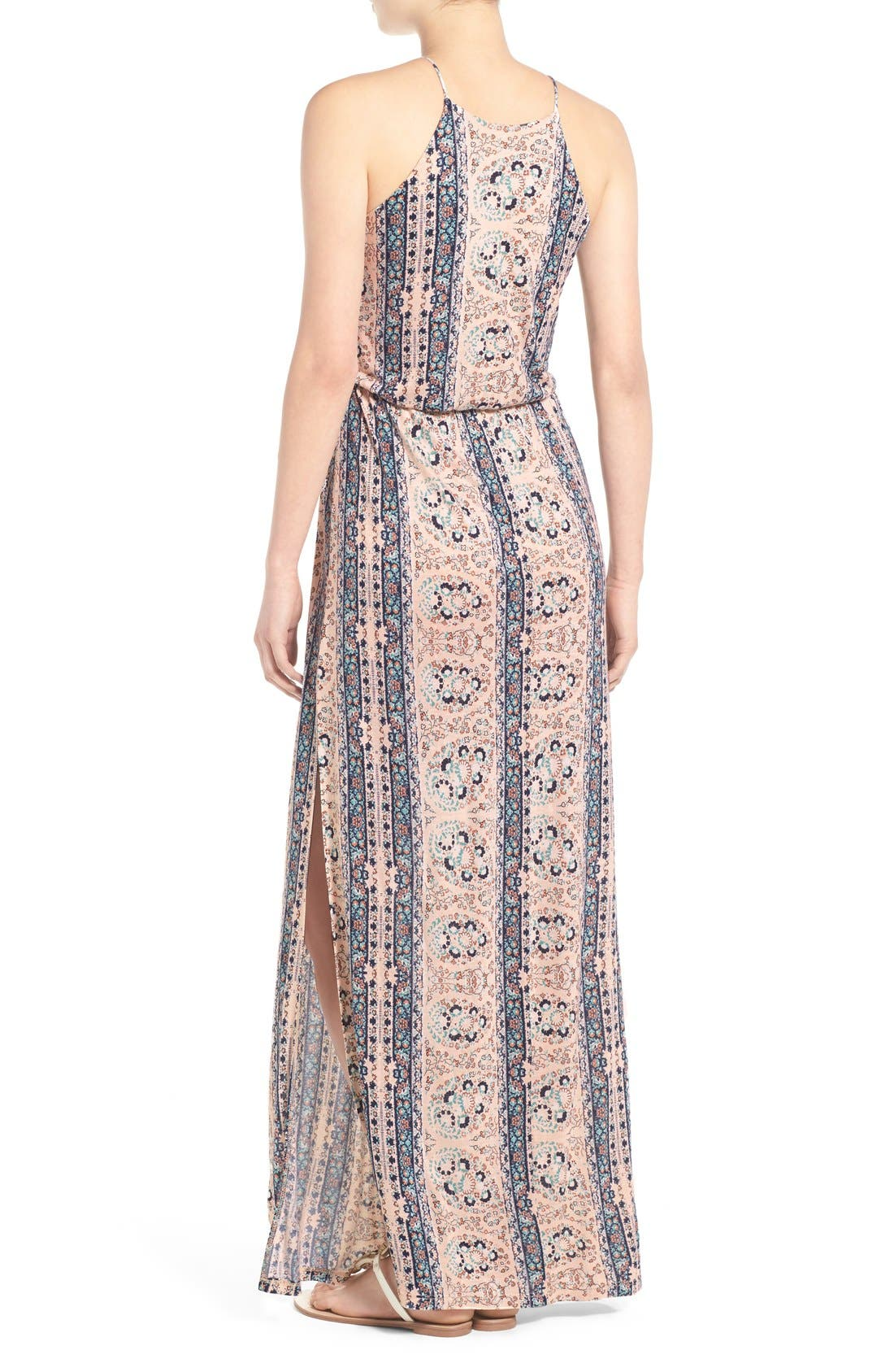 ,                             High Neck Maxi Dress,                             Alternate thumbnail 74, color,                             252