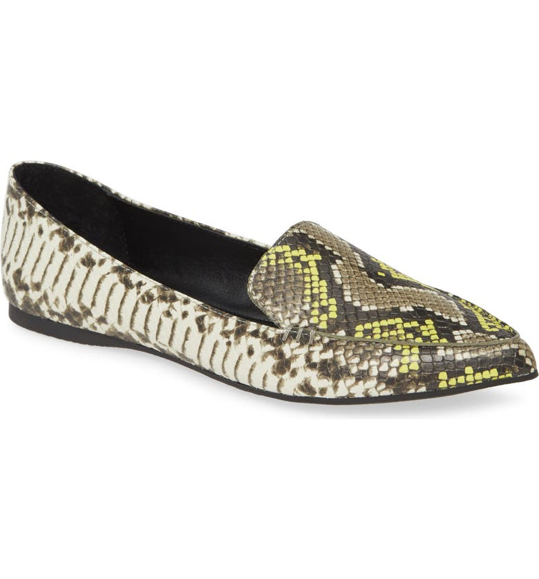 STEVE MADDEN Feather Loafer Flat, Main, color, GREY MULTI