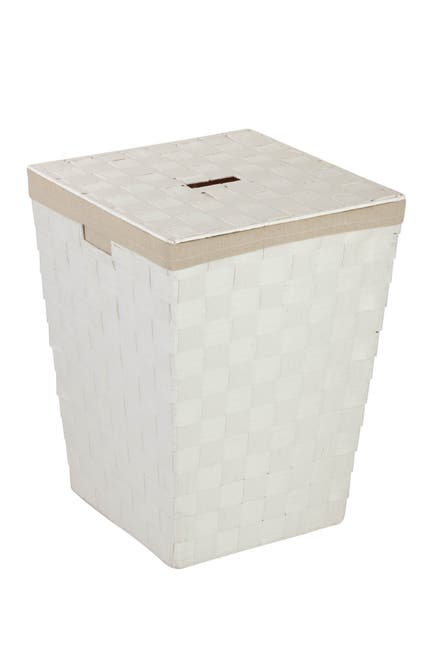 Image of Honey-Can-Do White Woven Hamper with Liner