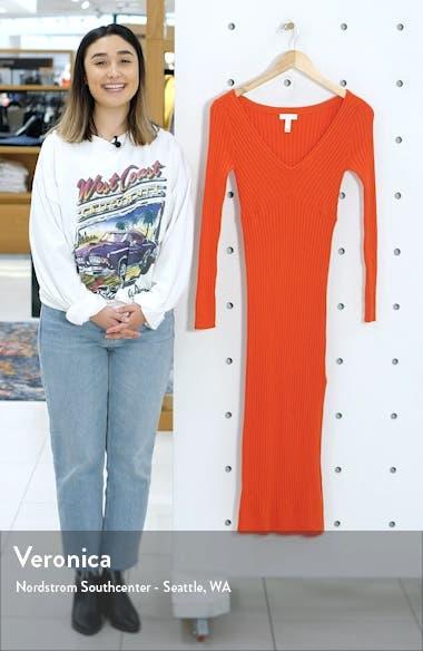 Angle Rib Long Sleeve Midi Sweater Dress, sales video thumbnail