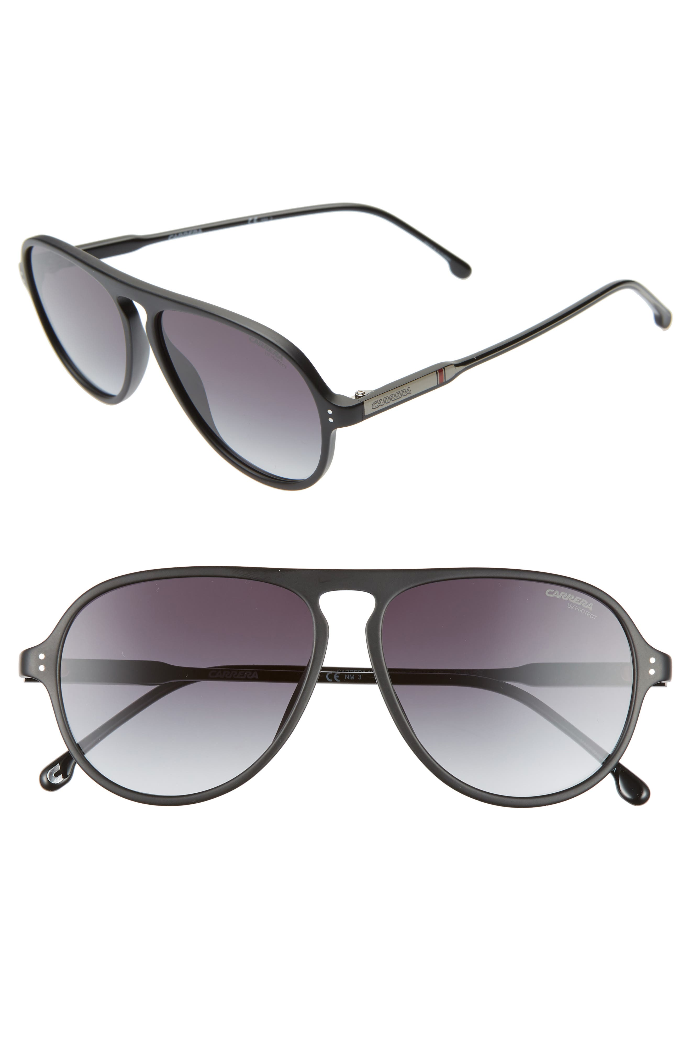 Carrera Eyewear 57Mm Aviator Sunglasses - Matte Black