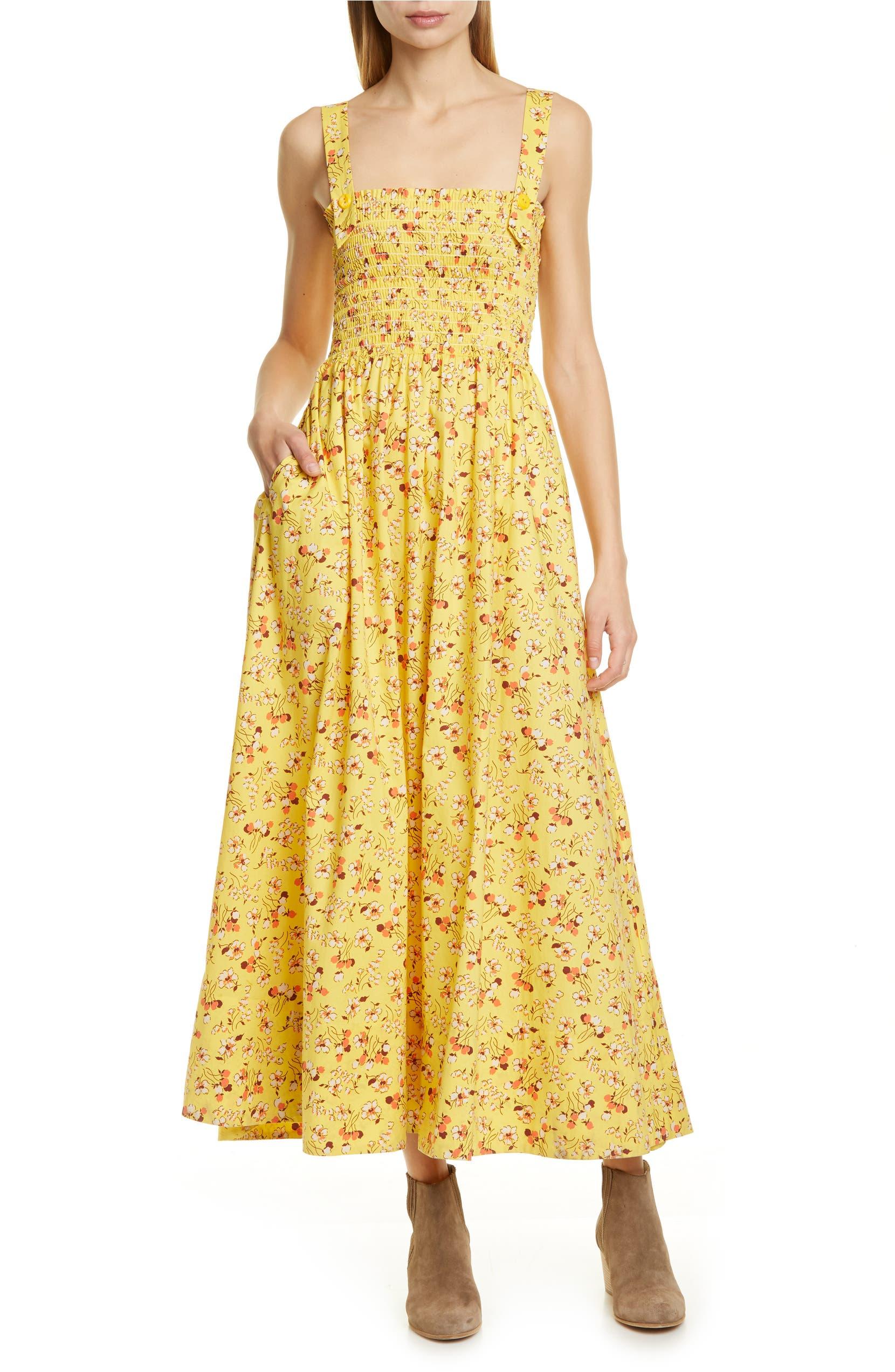 buy best great discount sale huge sale Polo Ralph Lauren Floral Smocked Detail Maxi Cotton Sundress ...