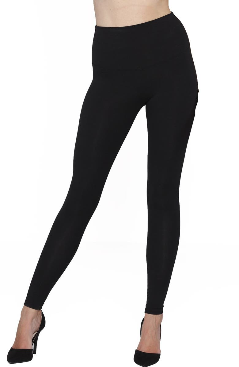 ANGEL MATERNITY 'Tummy Tight' Postpartum Leggings, Main, color, BLACK