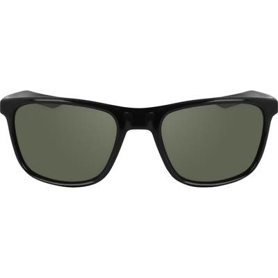Nike Essential Endeavor Wraparound Sunglasses - Black/ Neptune Green/ Green