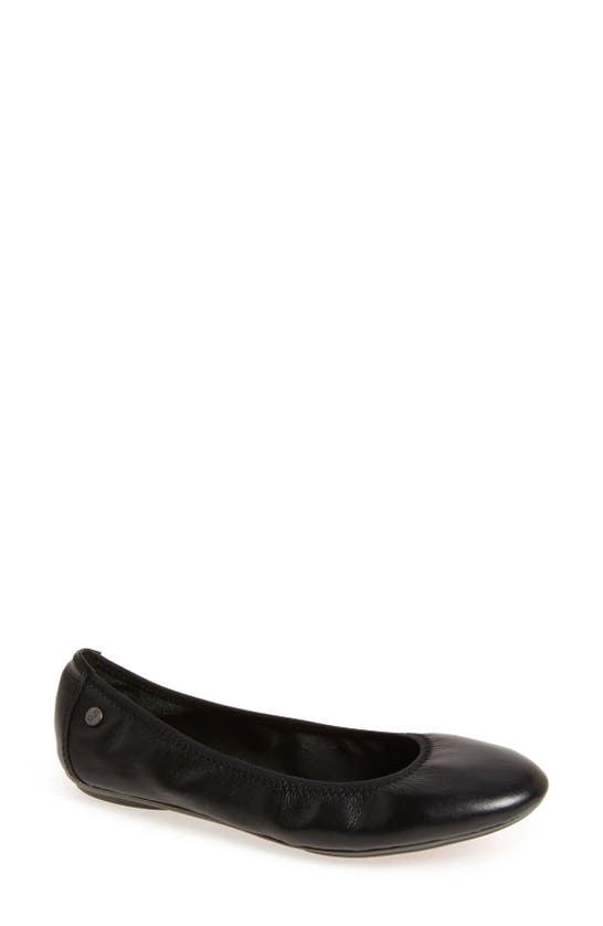 HUSH PUPPIES Leathers 'CHASTE' BALLET FLAT