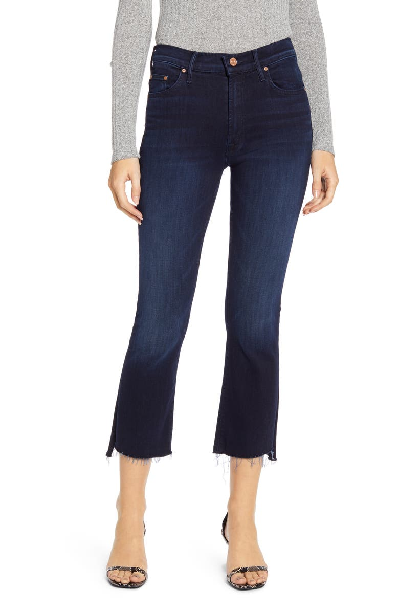 MOTHER The Insider Step Fray Hem Crop Jeans, Main, color, AFTER PARTY