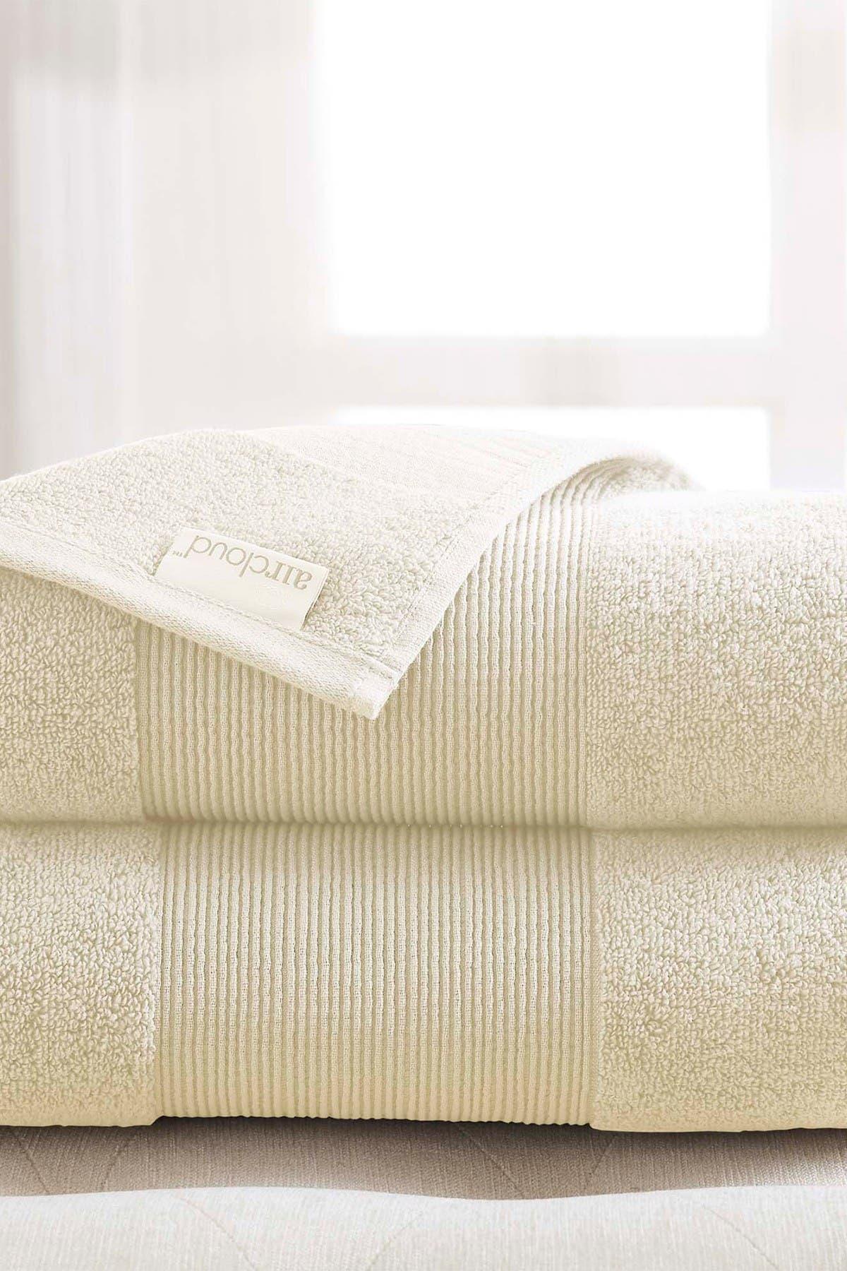 Image of Modern Threads Air Cloud Oversized Bath Sheet - Set of 2 - Ivory