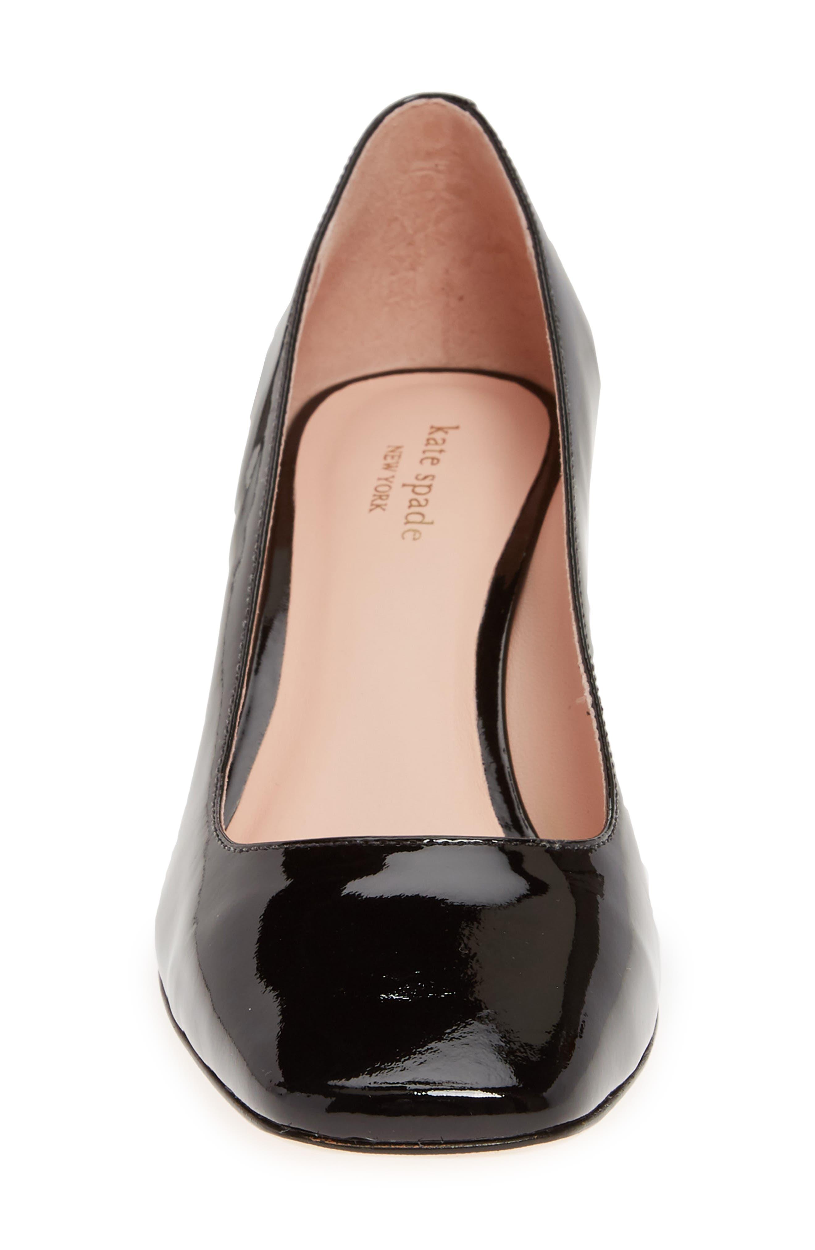 ,                             kylah block heel pump,                             Alternate thumbnail 4, color,                             BLACK PATENT