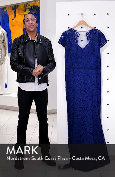 Panel Scalloped Lace Gown, sales video thumbnail