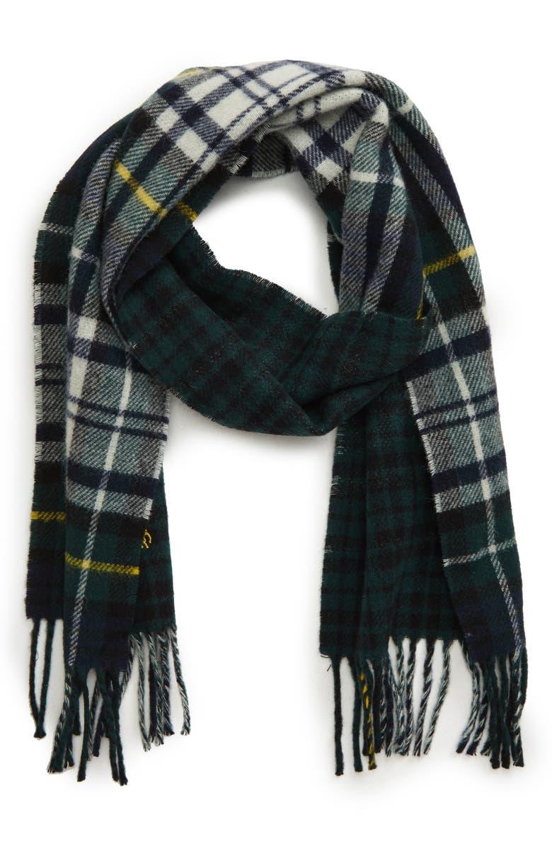 POLO RALPH LAUREN Reversible Tartan Wool Blend Scarf, Main, color, 345