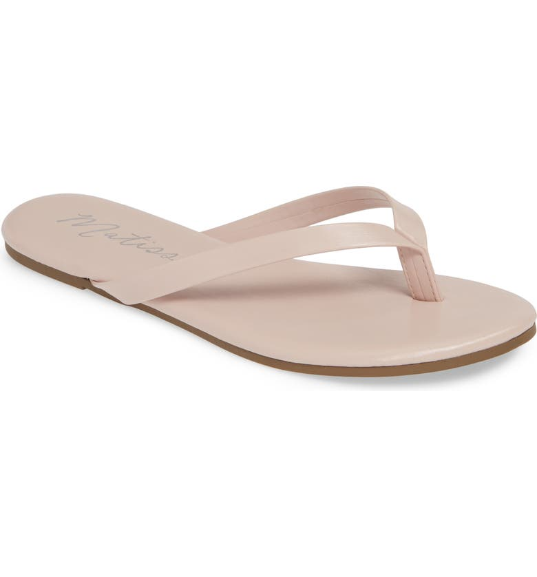 COCONUTS BY MATISSE Laguna Flip Flop, Main, color, PINK FAUX LEATHER