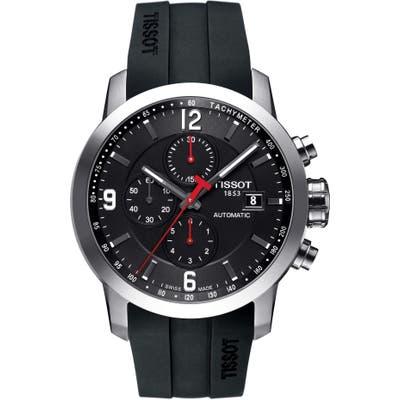 Tissot Prc200 Automatic Chronograph Silicone Strap Watch, 4m