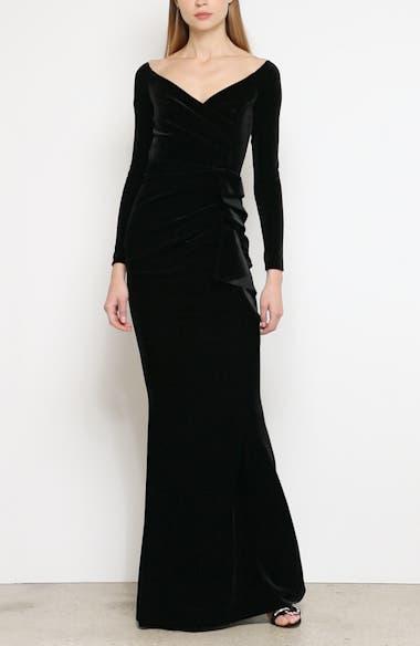 Silveria Long Sleeve Velvet Gown, video thumbnail