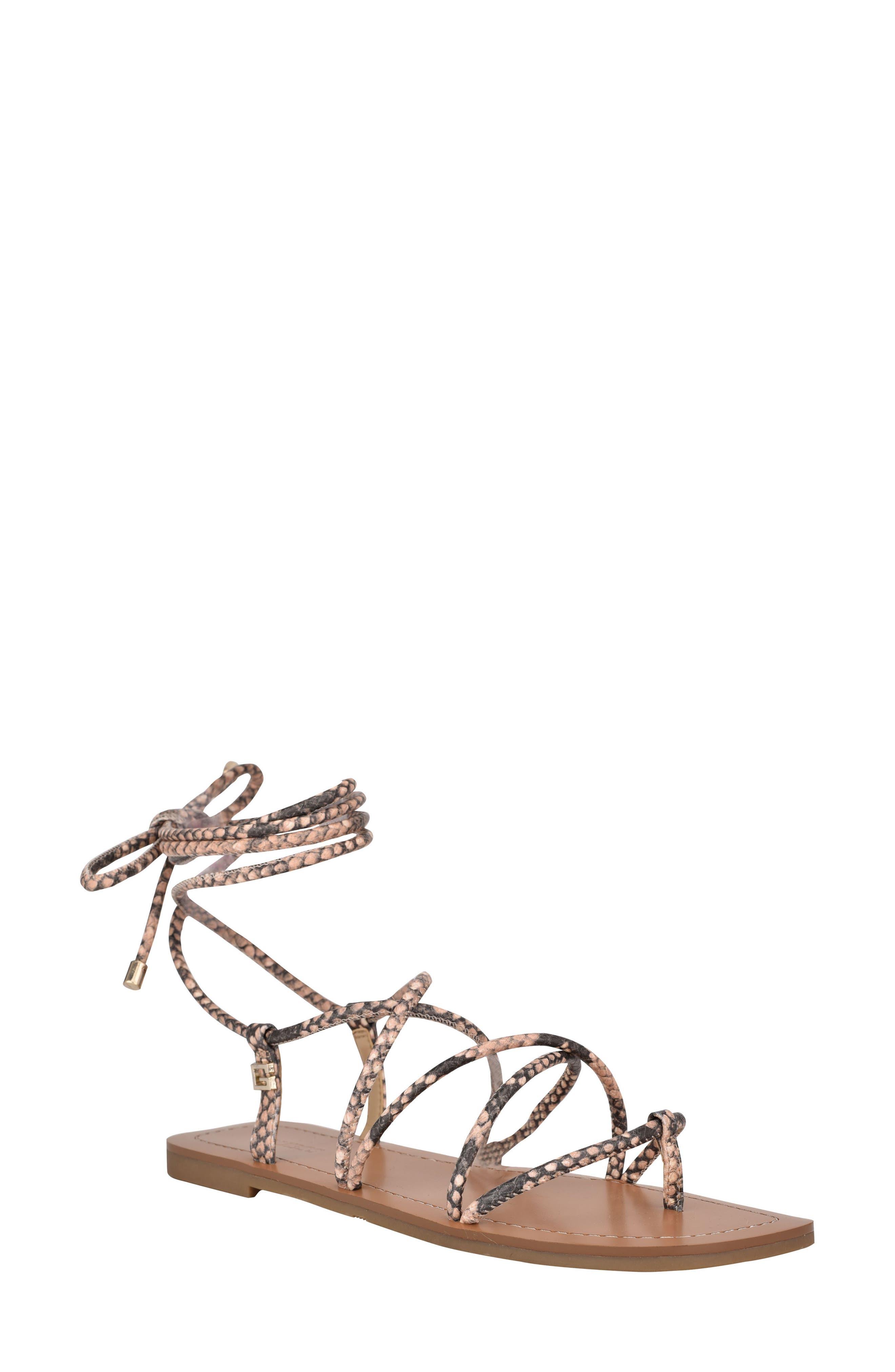 Cristen Ankle Wrap Thong Sandal