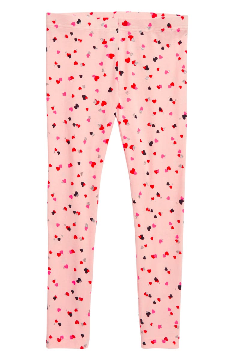 TUCKER + TATE 'Core' Print Leggings, Main, color, PINK SEASHELL HEARTS