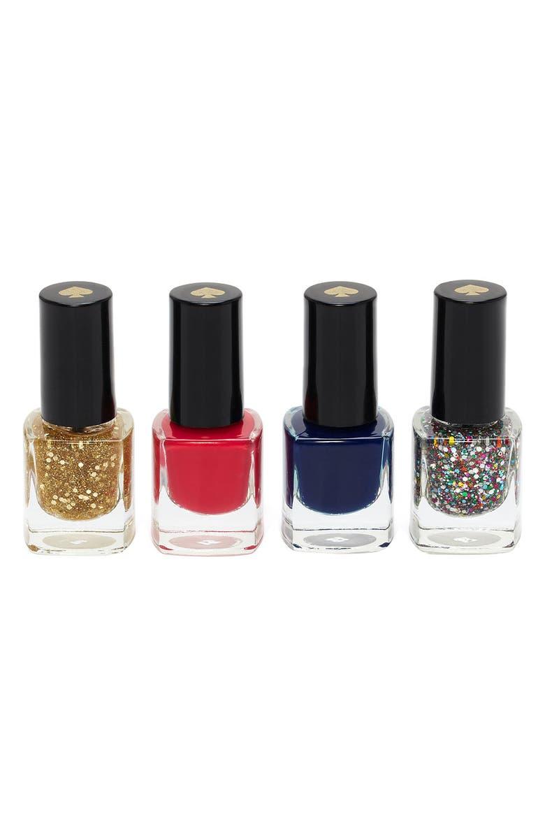 KATE SPADE NEW YORK 'sprinkles' mini nail polish set, Main, color, 650
