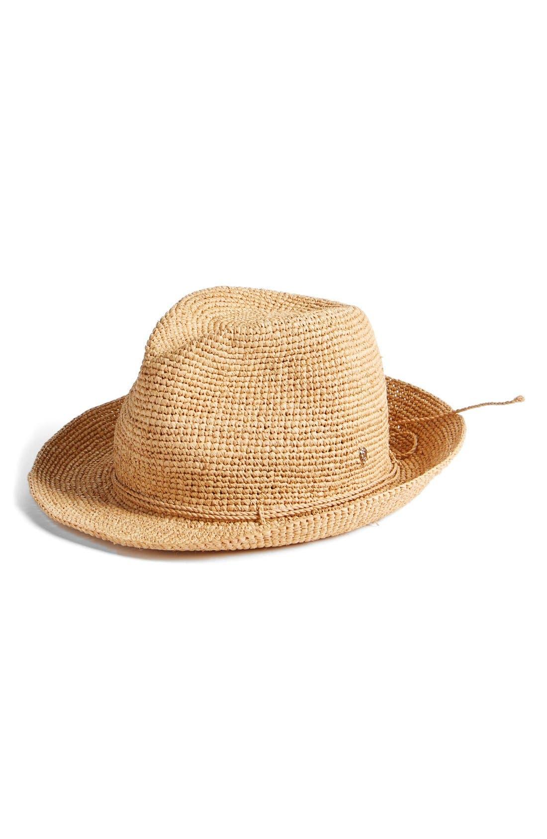 Raffia Crochet Packable Sun Hat