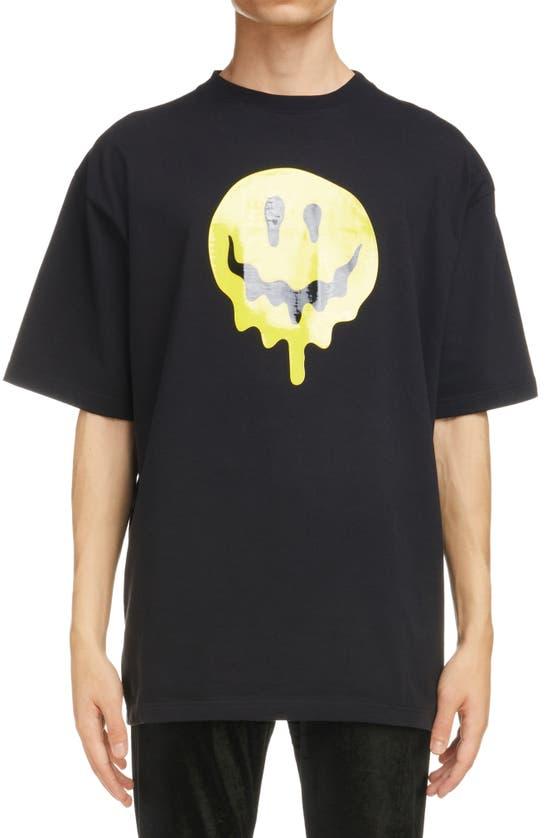 Balenciaga T-shirts SMILEY OVERSIZE GRAPHIC TEE