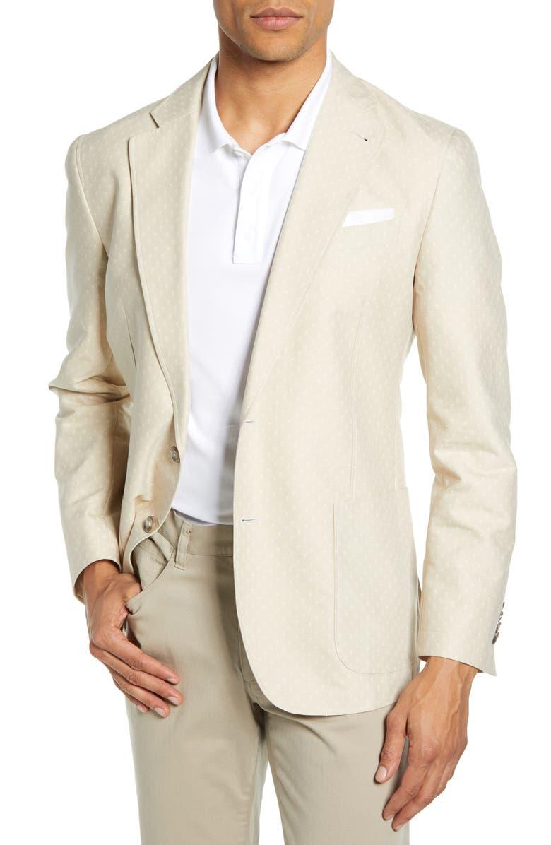 ROBERT GRAHAM Fairbrother Regular Fit Sport Coat, Main, color, TAN