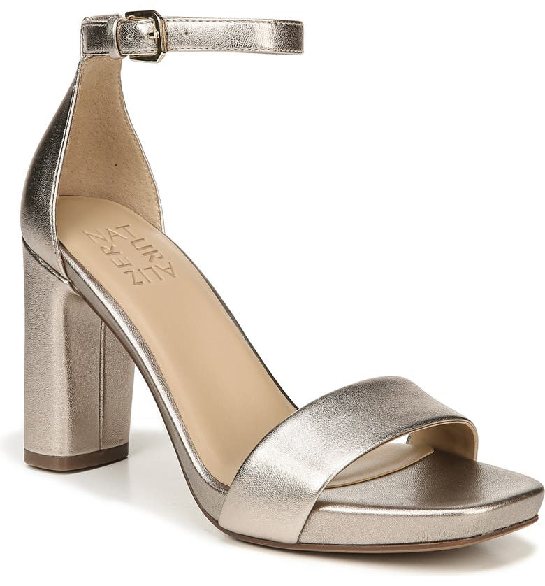 NATURALIZER Joy Ankle Strap Sandal, Main, color, LIGHT BRONZE LEATHER