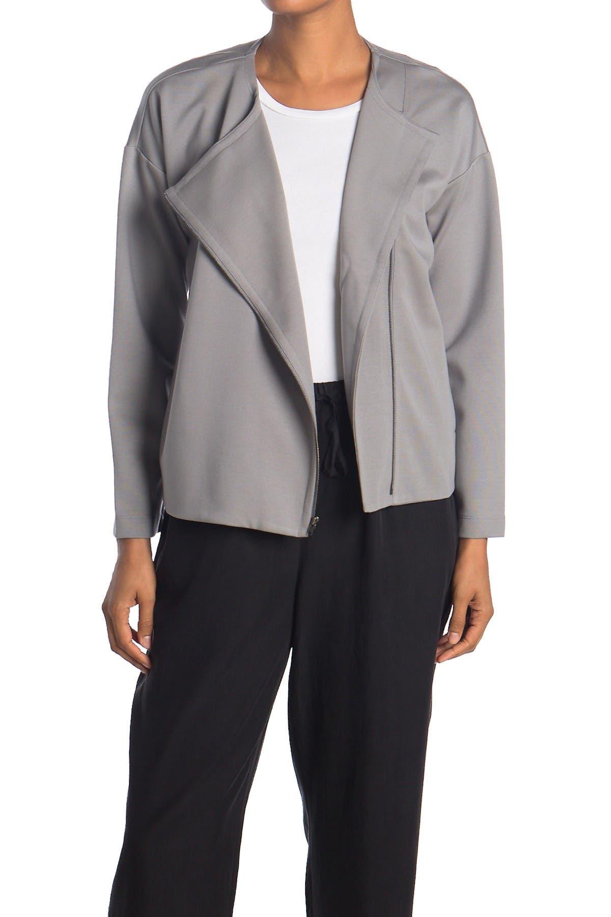 Image of Eileen Fisher Asymmetrical Zip Jacket