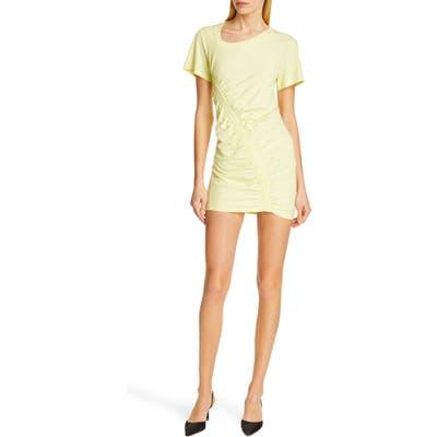 Alexanderwang.t Wash & Go High Twist Jersey Dress, Yellow