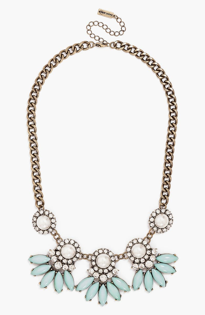 BAUBLEBAR 'Peacock Pearl Aster' Collar Necklace, Main, color, 330