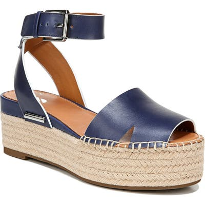 Sarto By Franco Sarto Lexie Platform Espadrille Sandal, Blue