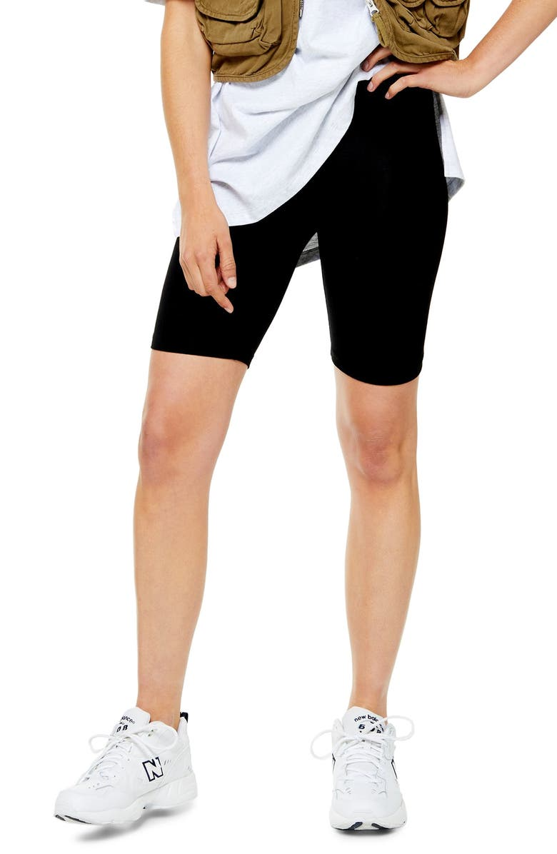 TOPSHOP Cycling Shorts, Main, color, 001