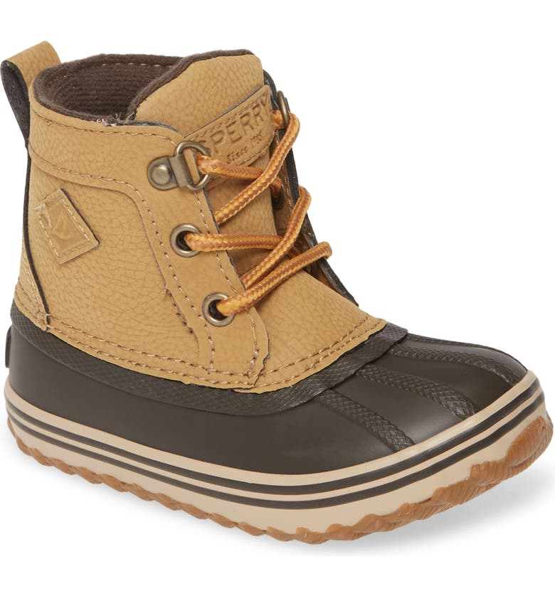SPERRY KIDS Sperry Bowline Boot, Main, color, BROWN/ BROWN