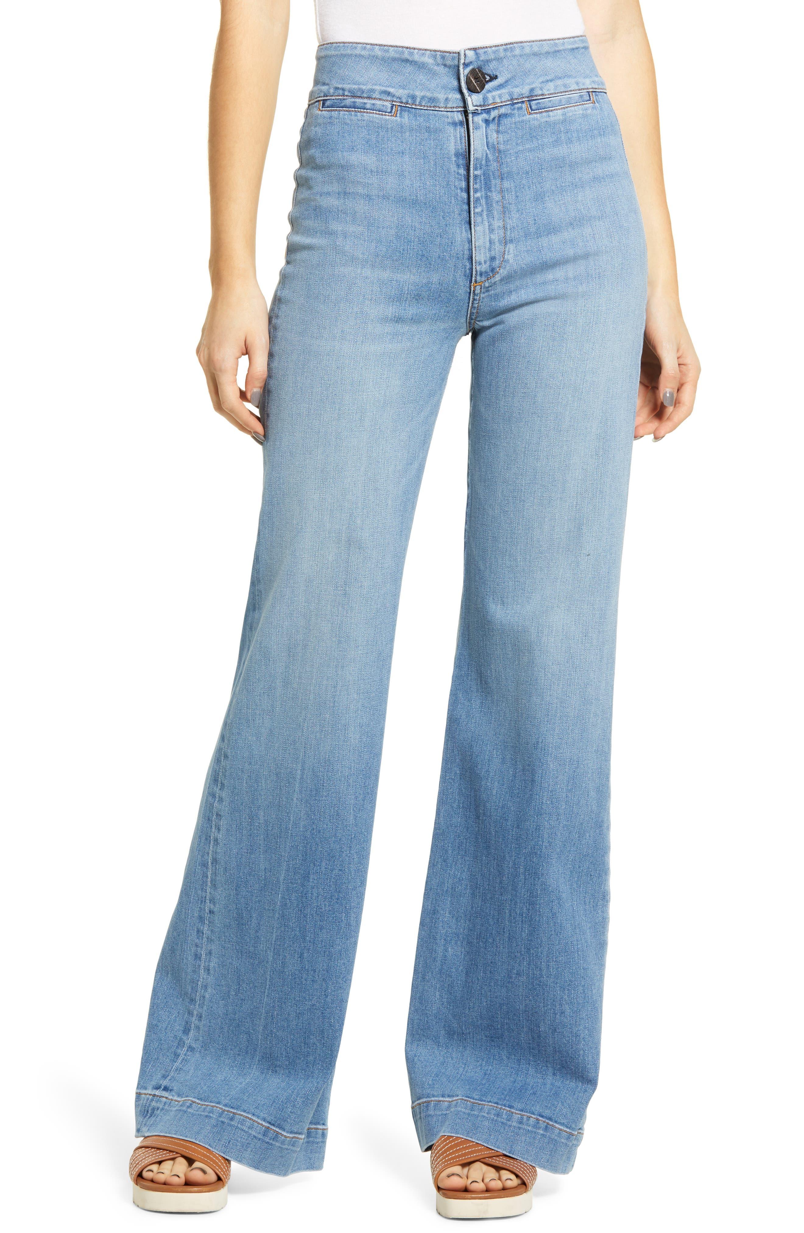 Brighton High Waist Wide Leg Jeans