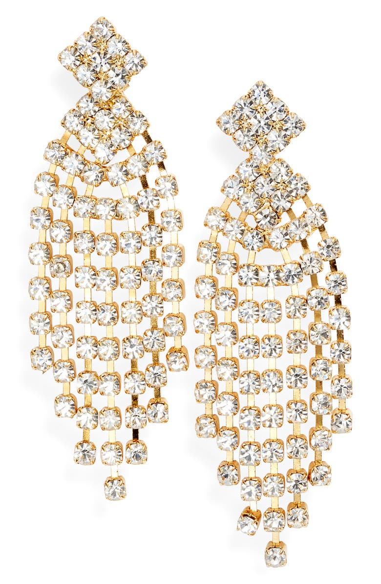 TEN79LA Cubic Zirconia Chandelier Earrings, Main, color, 710