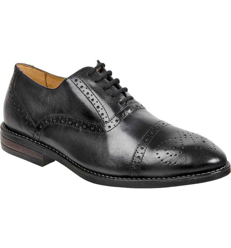 SANDRO MOSCOLONI Murali Cap Toe Oxford, Main, color, GREY LEATHER