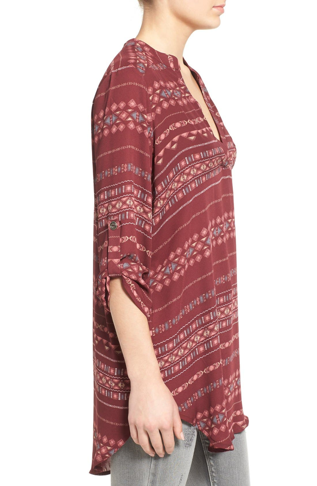 ,                             Perfect Roll Tab Sleeve Tunic,                             Alternate thumbnail 436, color,                             931