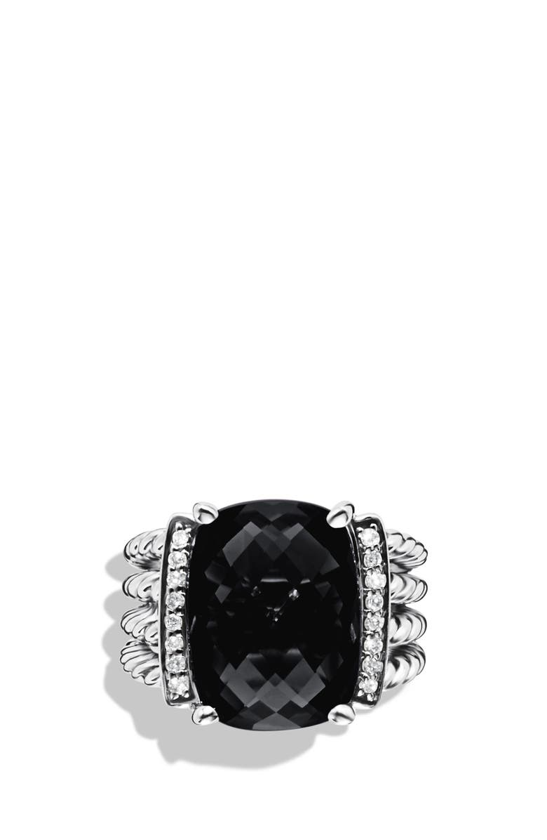 DAVID YURMAN 'Wheaton' Ring with Semiprecious Stone & Diamonds, Main, color, BLACK ONYX