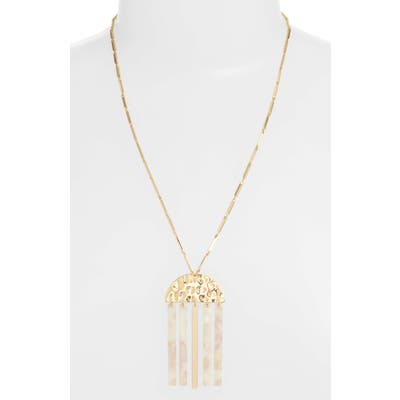 Ettika Lucite Bar Pendant Necklace