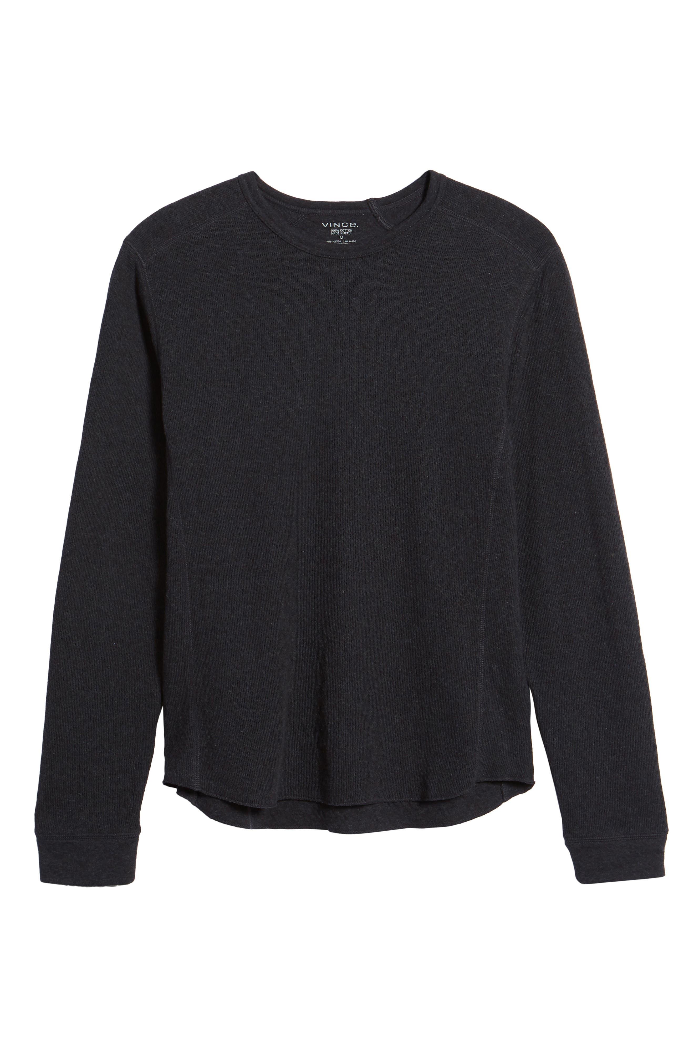 ,                             Double Knit Slim Fit Long Sleeve T-Shirt,                             Alternate thumbnail 6, color,                             MANHATTAN NAVY